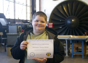 Courageous Flier Tommy completes his 3rd Year.